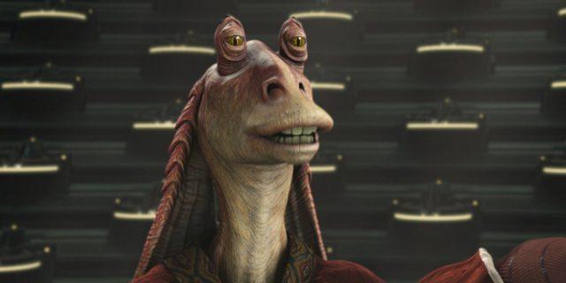 jar-jar binks star wars attaque clone disney lucasfilm