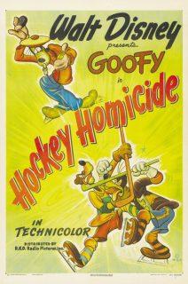 Affiche poster castagne hockey homicide disney dingo goofy