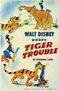 Affiche poster chasse tigre tiger trouble dingo goofy disney