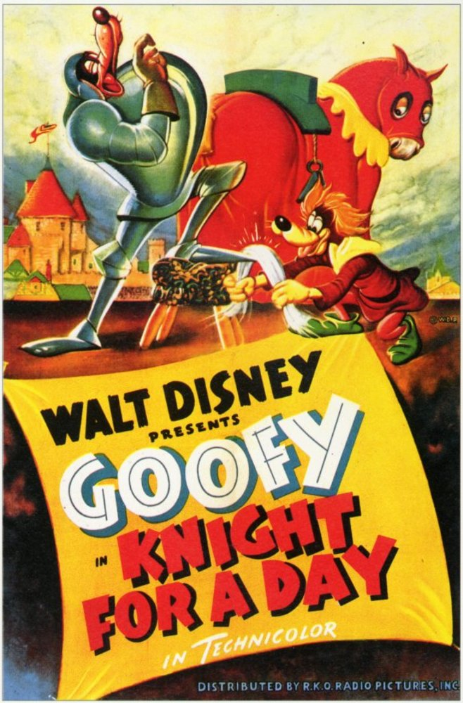 Affiche Poster chevalier jour knight day disney dingo goofy