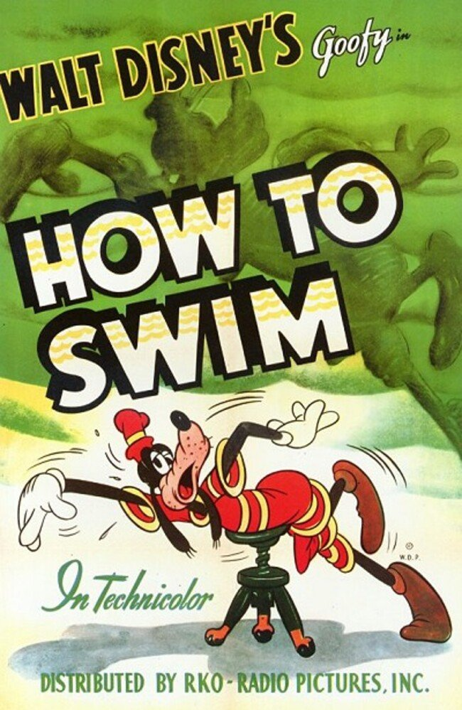 Affiche Poster comment être bon nageur how swim dingo goofy disney