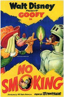 affiche poster defense fumer no smoking dingo goofy disney