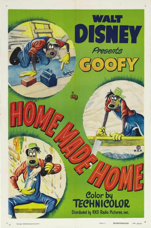 affiche poster dingo architecte home made goofy disney