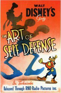 Affiche Poster dingo champion boxe art self defense goofy disney