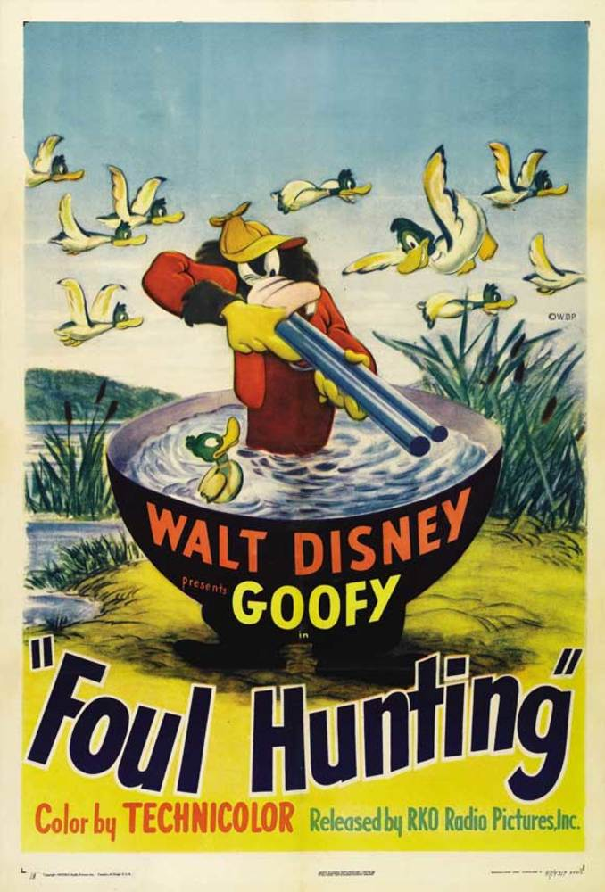 Affiche Poster dingo chasse foul hunting goofy disney