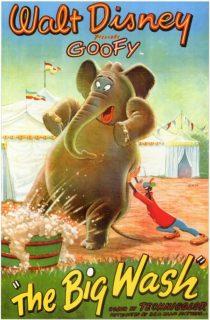 Affiche poster dingo dolores big wash goofy disney