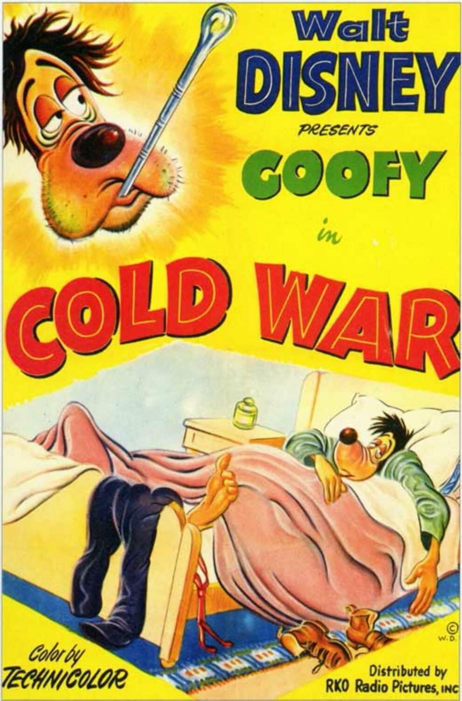 affiche poster guerre froid cold war dingo goofy disney