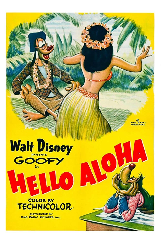 affiche poster hello aloha dingo goofy disney