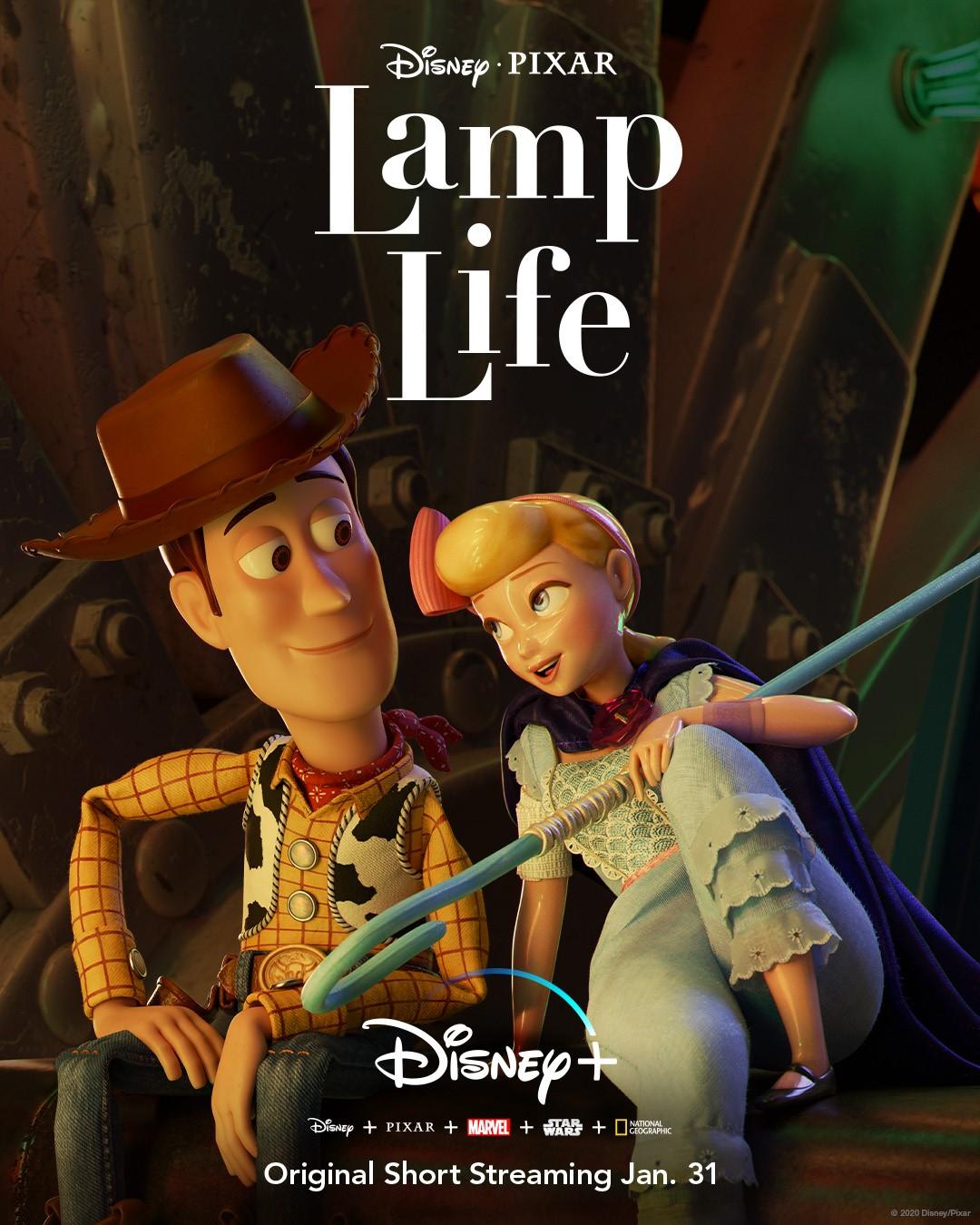 affiche poster lamp life vie lumière disney pixar