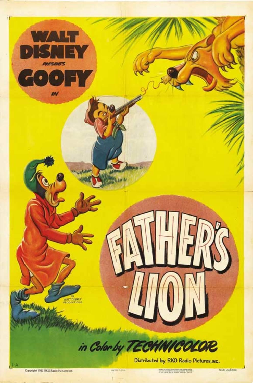 affiche poster papa lion father dingo goofy disney
