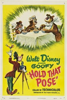 Affiche poster petit oiseau sortir hold that pose dingo disney goofy