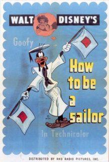 Affiche poster pour être bon marin how sailor disney dingo goofy