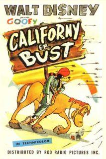 Affiche poster route ouest californy bust dingo goofy disney