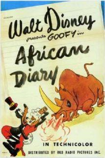 Affiche Poster souvenir afrique african diary dingo goofy disney