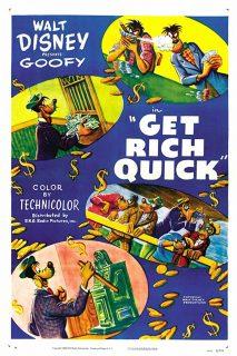 affiche poster vive fortune get rich quick dingo goofy disney