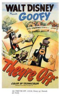 Affiche poster ils sont partis they re off disney dingo goofy