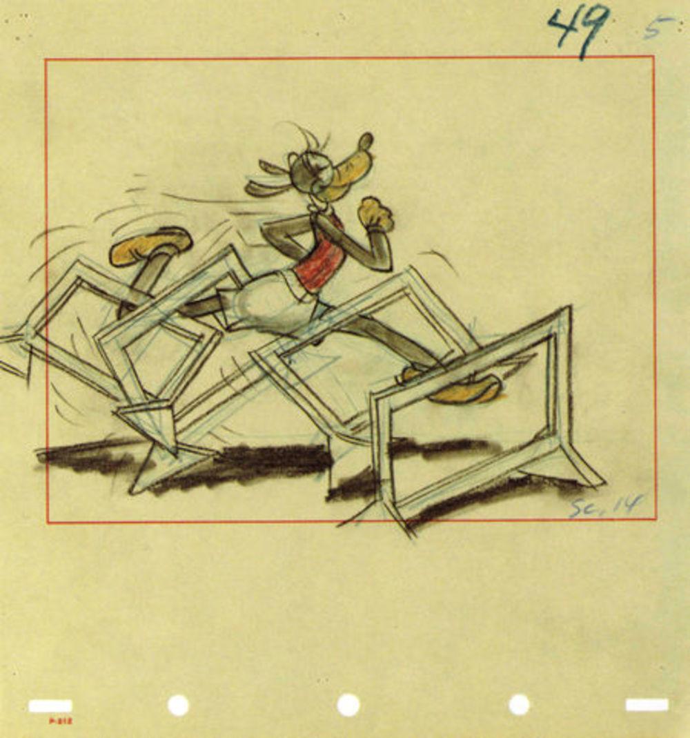 artwork dingo champion olympique champ goofy disney
