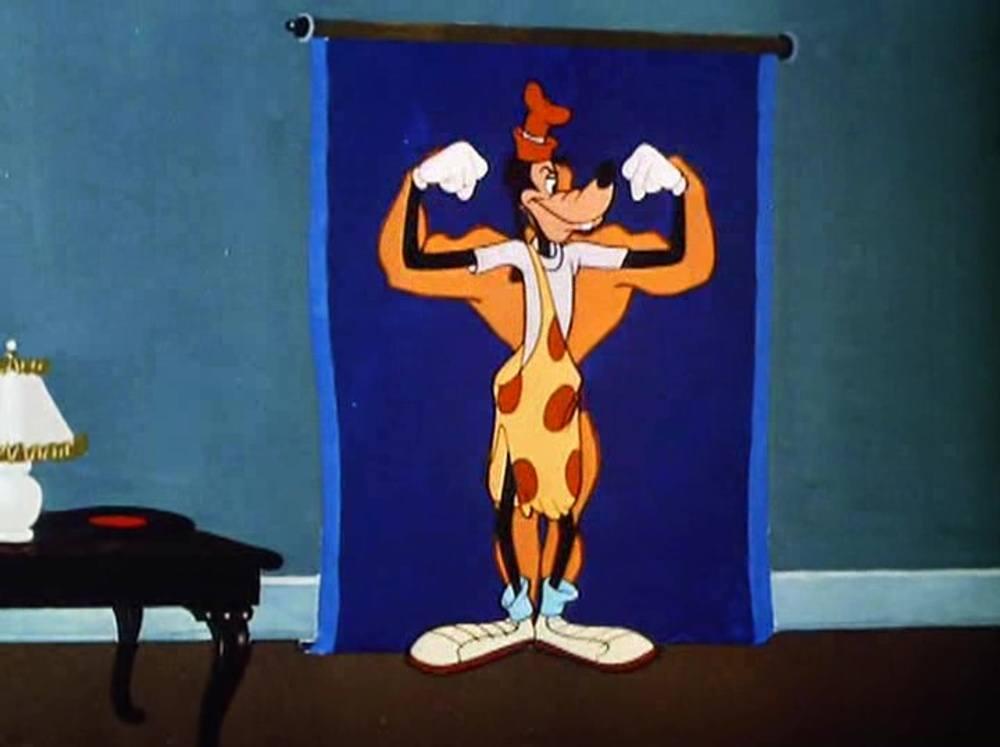image dingo fait gymanistique goofy gymnastics disney