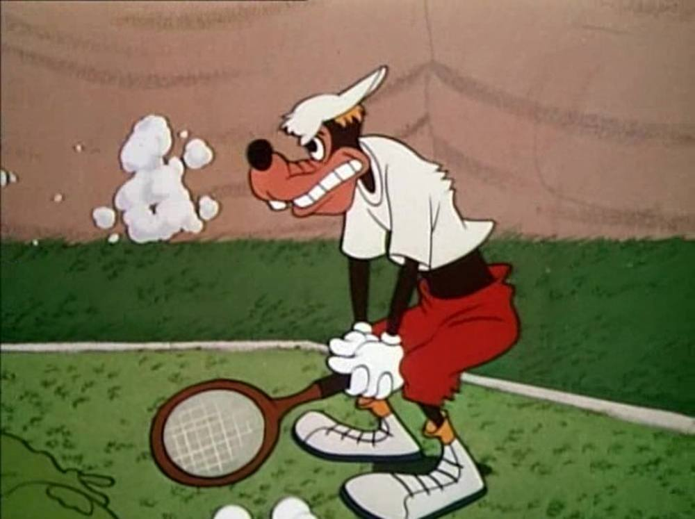 image dingo joue tennis racquet goofy disney