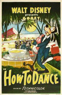 affiche poster art danse how dance dingo goofy disney