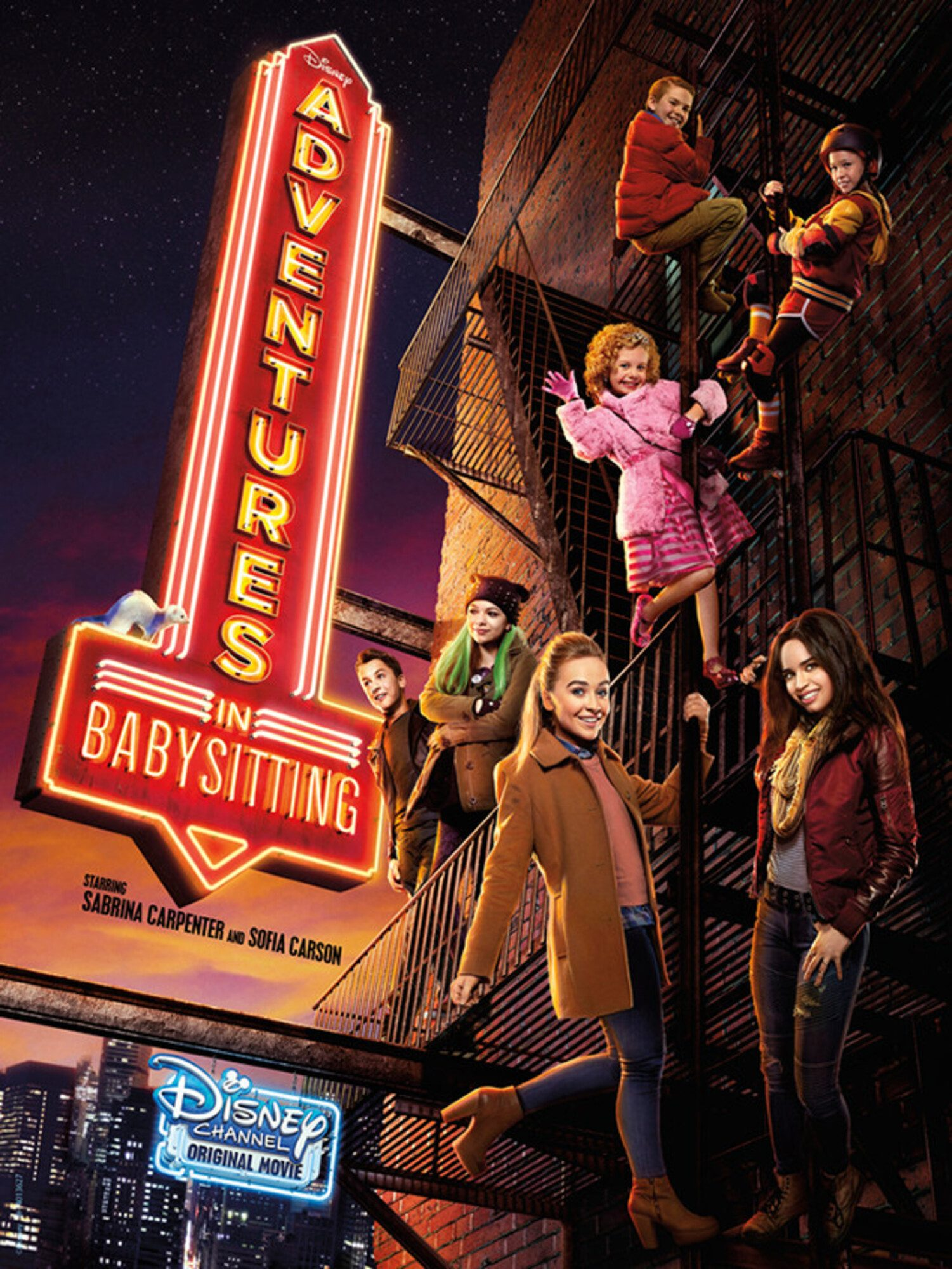 affiche poster babysitting night adventures disney channel