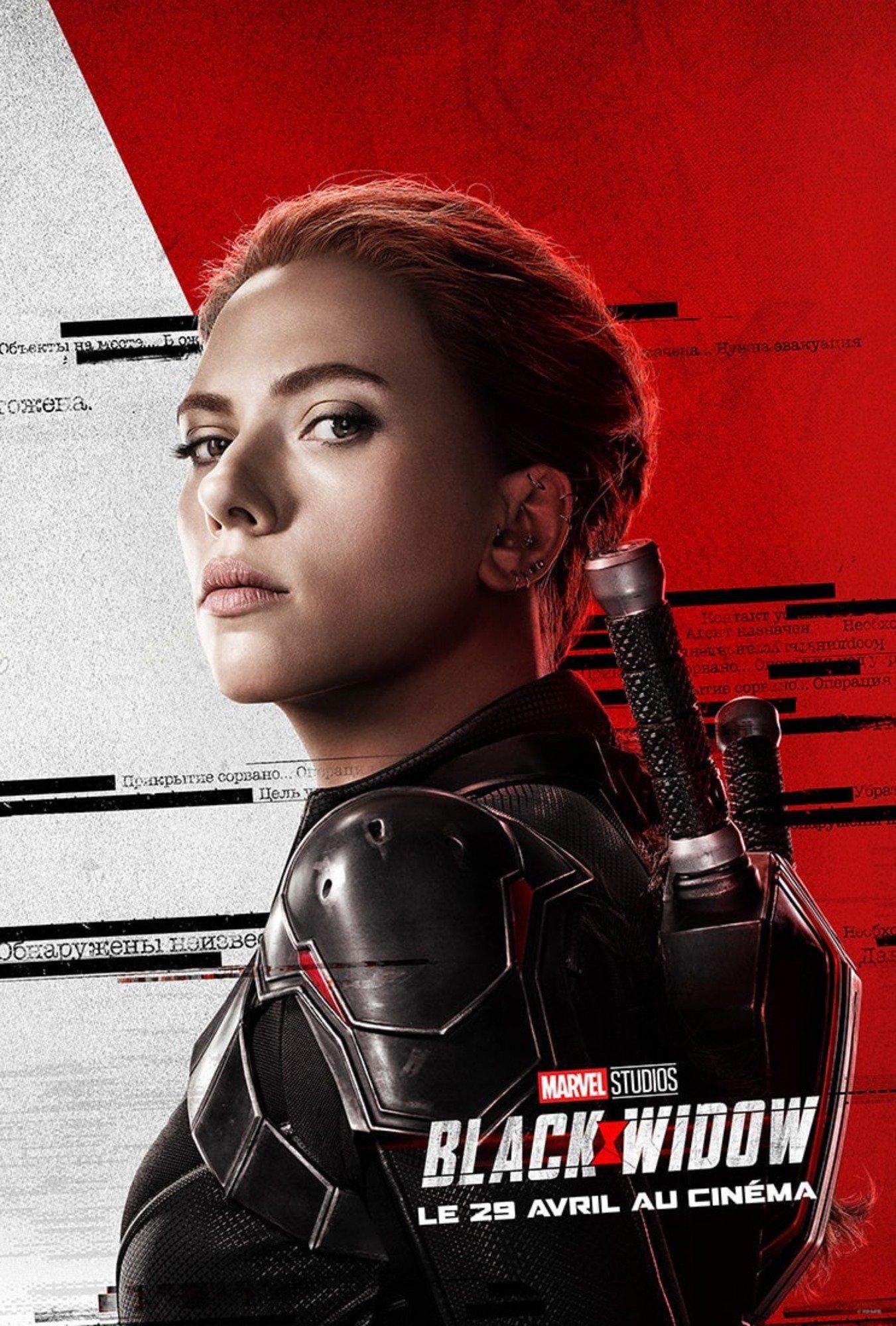 affiche poster black widow marvel disney