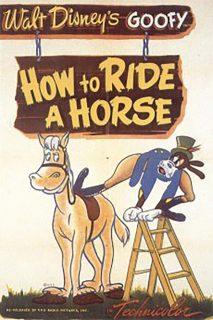affiche poster dingo comment équitation how ride horse goofy disney