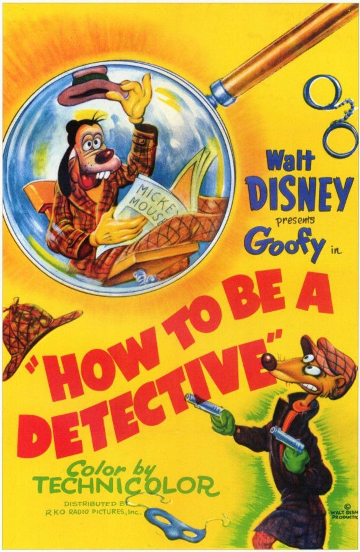 affiche poster dingo detective how disney goofy