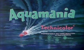 affiche poster fait natation aquamania dingo goofy disney