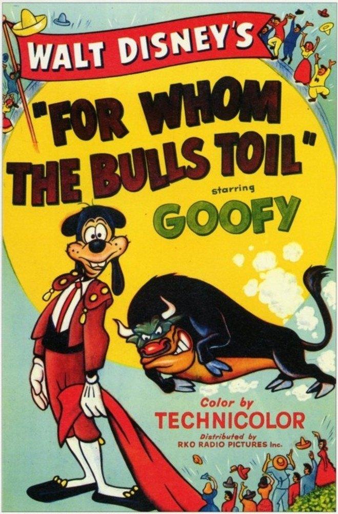 affiche poster dingo toreador whom bulls toil goofy disney