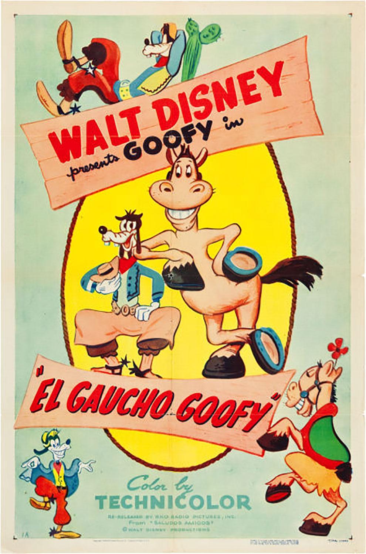 affiche poster el gaucho goofy dingo disney