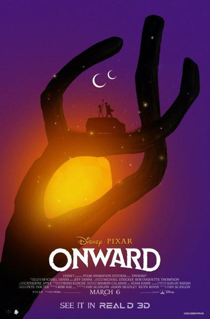 Affiche Poster en avant onward pixar disney