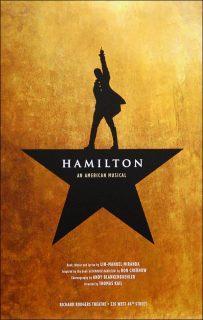 affiche poster hamilton musical broadway disney