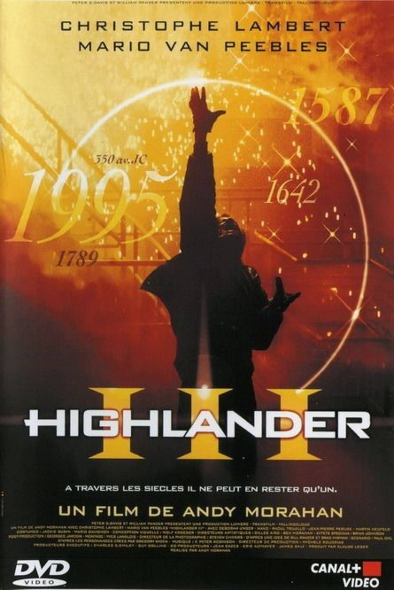 affiche poster highlander 3 sorcerer final dimension disney
