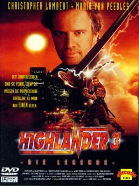affiche poster highlander 3 sorcerer final dimension disney