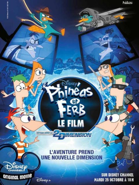 affiche poster phineas ferb movie dimension film disney channel