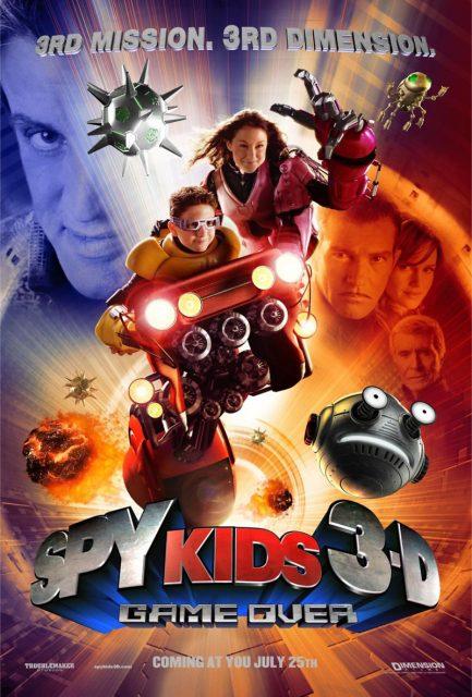 affiche poster spy kids 3 mission 3d game over disney dimension