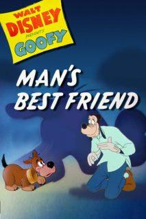 affiche poster tout doux toutou man best friend dingo goofy disney