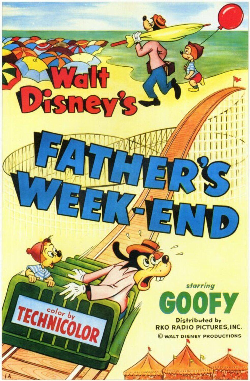 affiche poster dingo goofy week end father papa disney