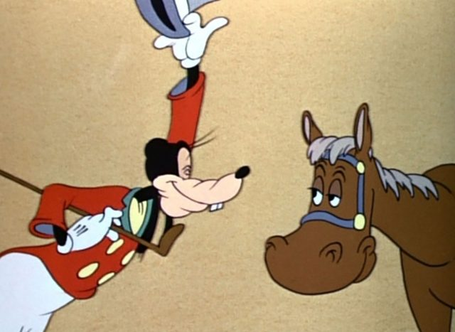 image dingo comment équitation how ride horse goofy disney