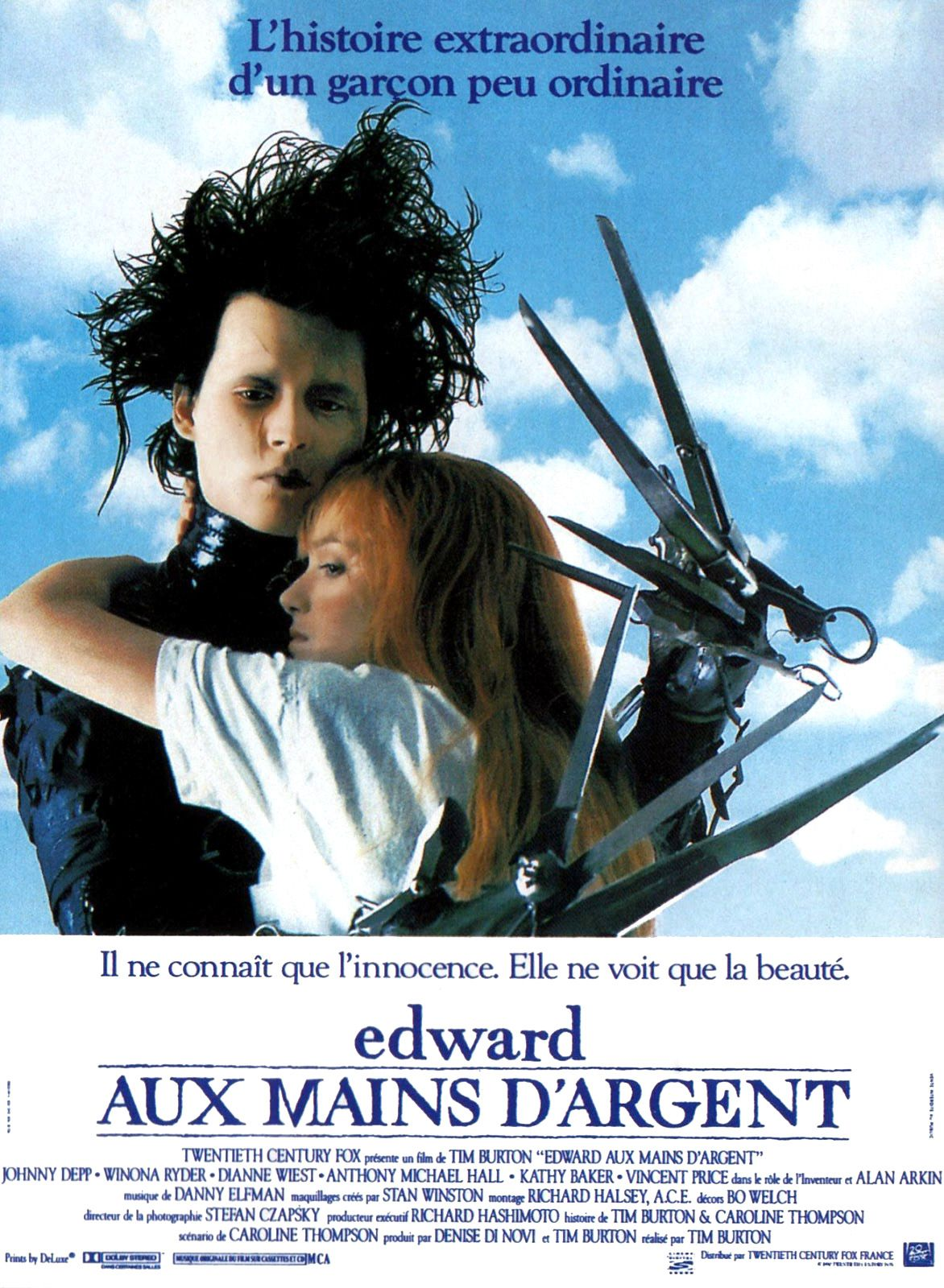 affiche poster edward mains argent Scissorhands disney fox