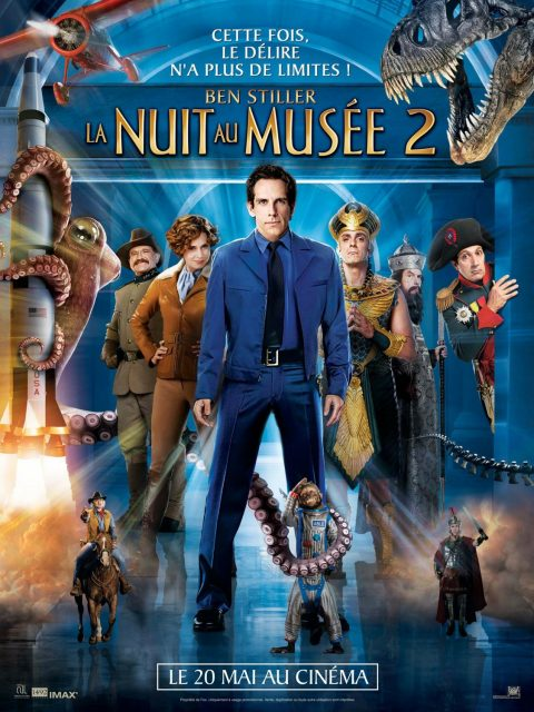 affiche poster nuit musée 2 night museum battle Smithsonian disney fox