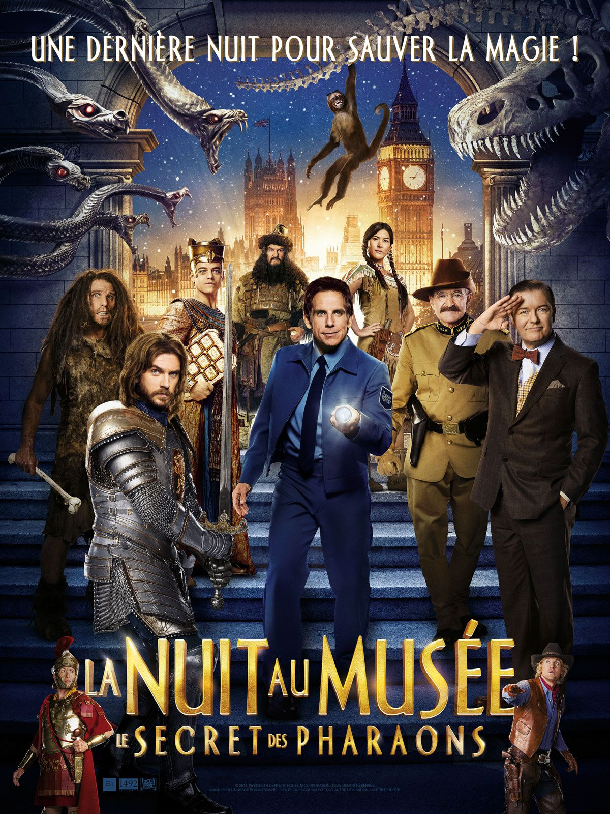 affiche poster nuit musée secret pharaons tomb night museum disney fox