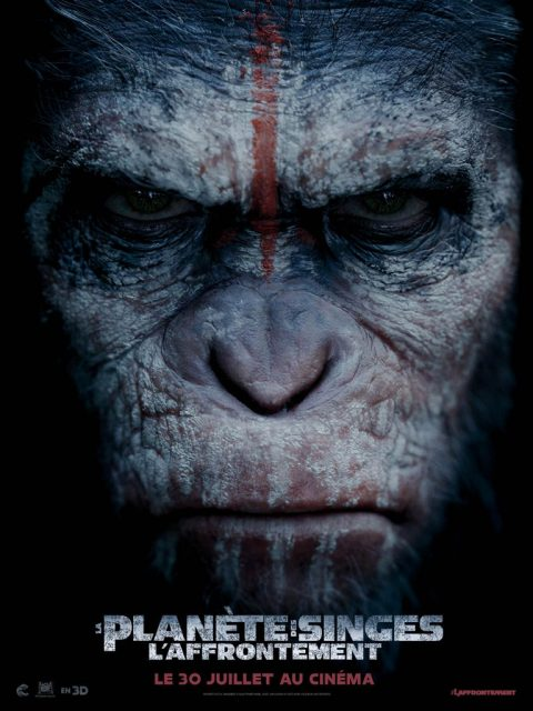 affiche poster planète singes affrontement daw planet apes disney fox