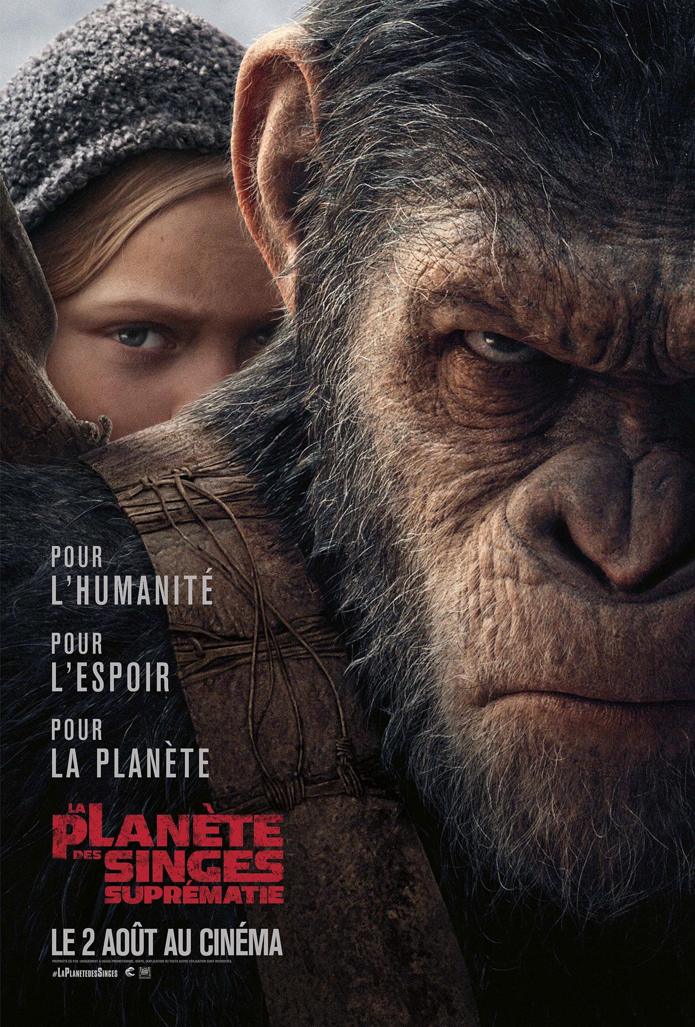 affiche poster planète singes suprématie planet apes war disney fox