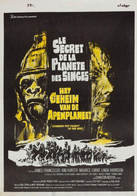 affiche poster secret planète singes beneath planet apes disney fox