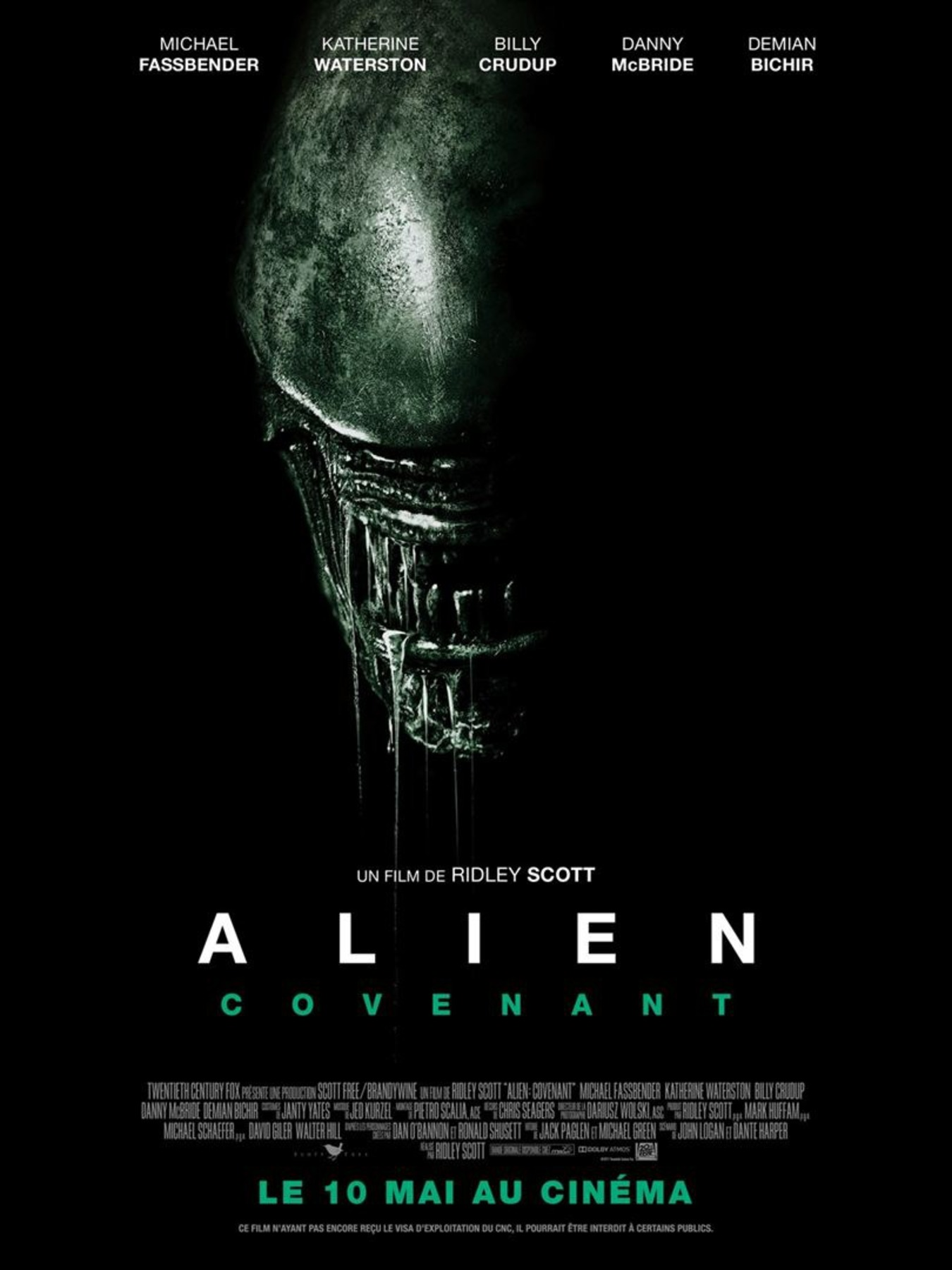 affiche poster alien covenant disney fox
