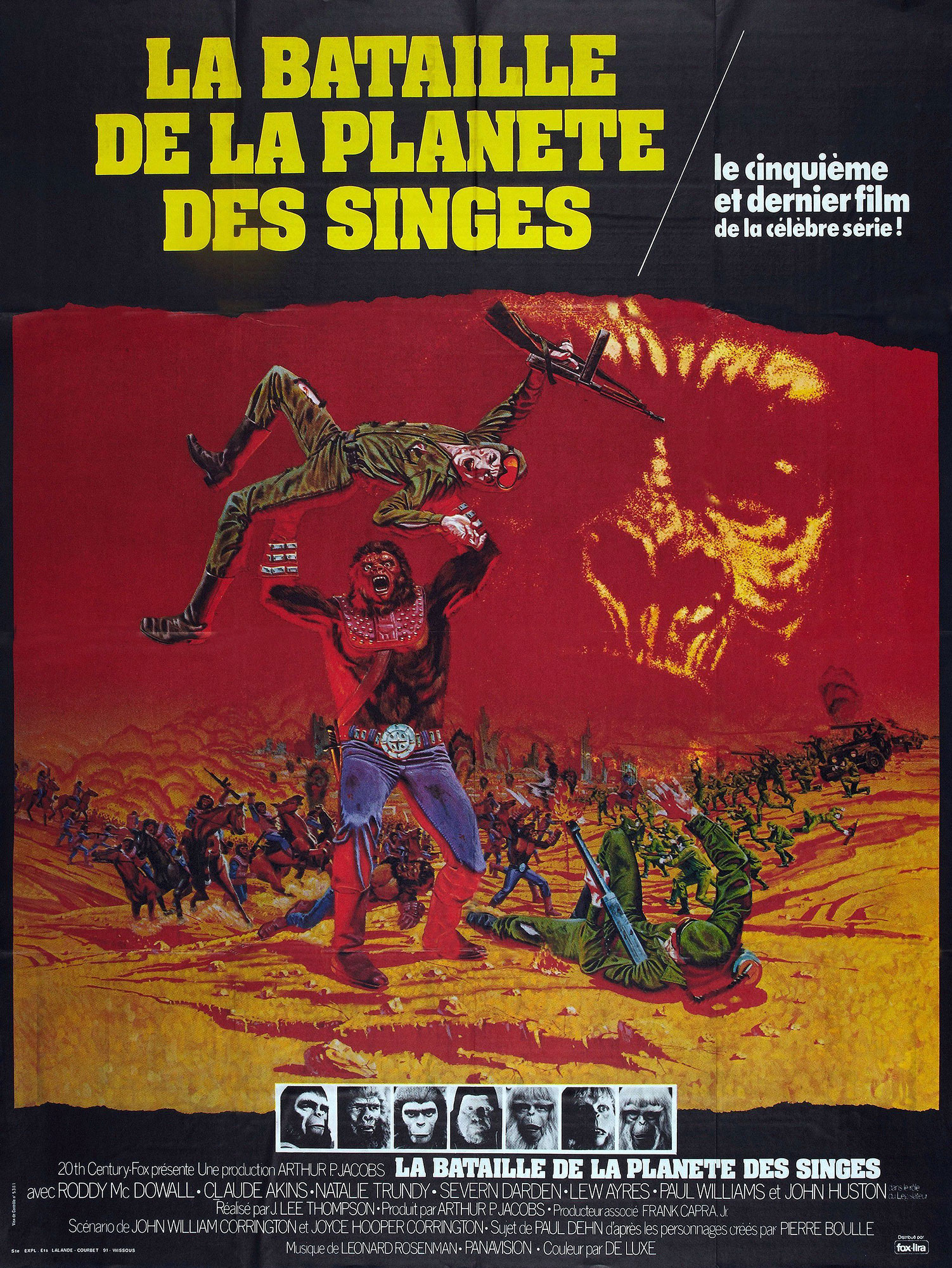 affiche poster bataille planète singes battle planet apes disney fox