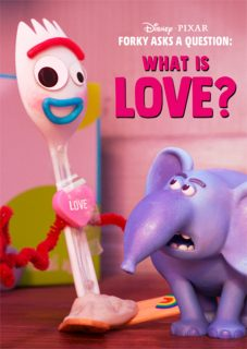 affiche poster fourchette forky question amour love disney pixar