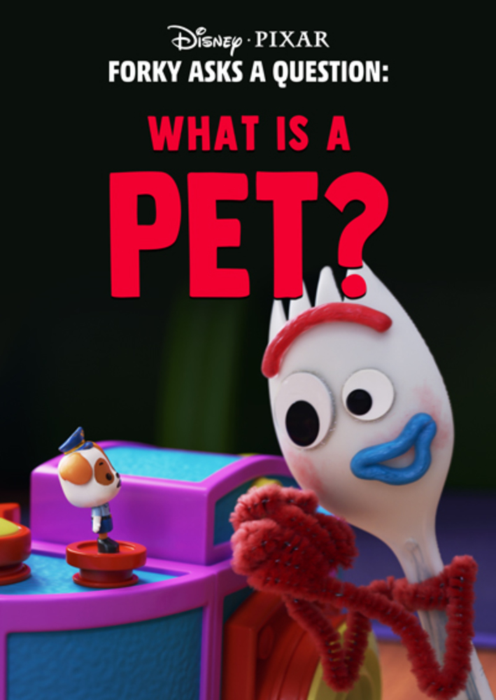 affiche poster fourchette question forky animal pet disney pixar